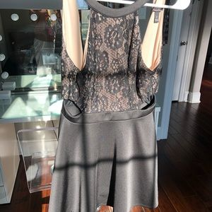 Dresses & Skirts - lace nude and black dress